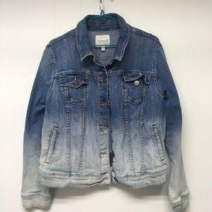 Torrid Ombré Denim Jacket Stretch Trucker Jean